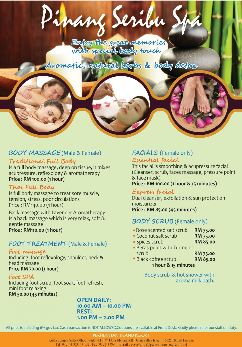 PIR Spa 2015 rates new